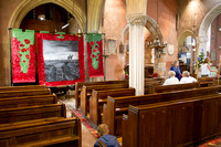 Blessing of the WW1 Banner at Upton Pyne 1st August 2014